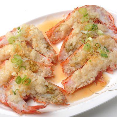 蒜茸蒸開邊蝦